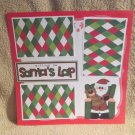 """Sitting on Santa's Lap 3""-Premade Scrapbook Page 12x12"