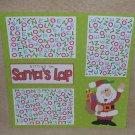"""Sitting on Santa's Lap a""-Premade Scrapbook Page 12x12"