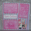 """Merry Christmas Snowman and Deer""-Premade Scrapbook Page 12x12"