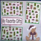 """""""My Favorite Gifts""""-Premade Scrapbook Page 12x12"""