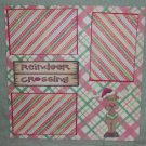 """Reindeer Crossing psp""-Premade Scrapbook Page 12x12"
