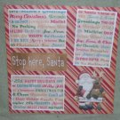"""Stop Here Santa nw""-Premade Scrapbook Page 12x12"