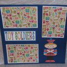 """""""Toy Soldiers""""-Premade Scrapbook Page 12x12"""