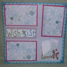"""Wish List Note nw""-Premade Scrapbook Page 12x12"