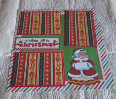 """A Holly Jolly Christmas Mrs Claus""-Premade Scrapbook Page 12x12"