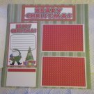 """Beary Christmas bl 2a""-Premade Scrapbook Page 12x12"