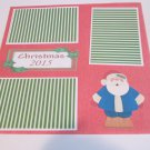 """Christmas 2015 a""-Premade Scrapbook Page 12x12"