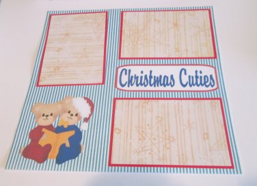 """Christmas Cuties d""-Premade Scrapbook Page 12x12"