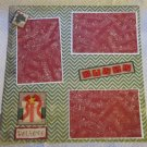 """Christmas Gifts 2a""-Premade Scrapbook Page 12x12"