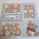 """""""Welcome 2015 a""""-Premade Scrapbook Page 12x12"""