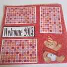 """""""Welcome 2015""""-Premade Scrapbook Page 12x12"""