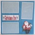 """Christmas Eve Santa a""-Premade Scrapbook Page 12x12"