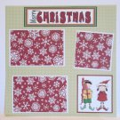 """Merry Christmas Elves bl""-Premade Scrapbook Page 12x12"