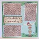 """Reindeer Crossing psp a""-Premade Scrapbook Page 12x12"