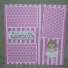 """Ballerina Girl""-Premade Scrapbook Page 12x12"