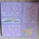 """Coloring Easter Eggs 2a""-Premade Scrapbook Page 12x12"