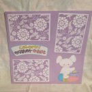 """""""Coloring Easter Eggs kw1""""-Premade Scrapbook Page 12x12"""