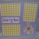 """""""Easter Egg Hunt 2""""-Premade Scrapbook Page 12x12"""