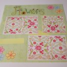 """""""Flowers c1""""-Premade Scrapbook Page 12x12"""