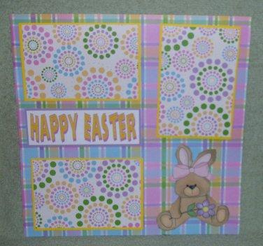 """Happy Easter Girl cs""-Premade Scrapbook Page 12x12"