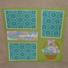 """Happy Easter Lamb Basket""-Premade Scrapbook Page 12x12"