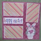 """Hoppy Easter 2""-Premade Scrapbook Page 12x12"