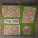 """Hoppy Easter Boy a""-Premade Scrapbook Page 12x12"