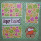 """Hoppy Easter Boy""-Premade Scrapbook Page 12x12"