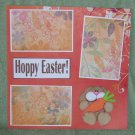 """Hoppy Easter Boy b""-Premade Scrapbook Page 12x12"