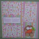 """Hoppy Easter Girl""-Premade Scrapbook Page 12x12"