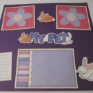 """My Pet Rabbit crs""-Premade Scrapbook Page 12x12"