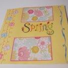 """Spring c1""-Premade Scrapbook Page 12x12"