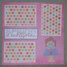 """""""Spring Delights tc""""-Premade Scrapbook Page 12x12"""