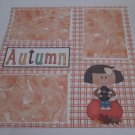 """Autumn Girl ab""-Premade Scrapbook Page 12x12"