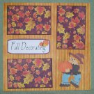 """Fall Decorating Scarecrow""-Premade Scrapbook Page 12x12"