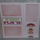 """Fall Fun Boy""-Premade Scrapbook Page 12x12"