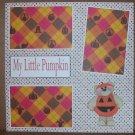 """My Little Pumpkin 3""-Premade Scrapbook Page 12x12"