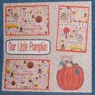 """Our Little Pumpkin""-Premade Scrapbook Page 12x12"