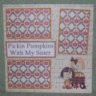 """""""Pickin Pumpkins With My Sister""""-Premade Scrapbook Page 12x12"""