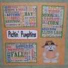 """Pickin Pumpkins a""-Premade Scrapbook Page 12x12"