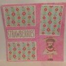 """Strawberries""-Premade Scrapbook Page 12x12"