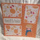 """Where Are All The Pumpkins? Girl""-Premade Scrapbook Page 12x12"
