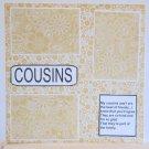 """Cousins d""-Premade Scrapbook Page 12x12"