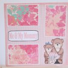"""Me and My Mommy Girl a""-Premade Scrapbook Page 12x12"
