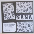 """Nana b""-Premade Scrapbook Page 12x12"