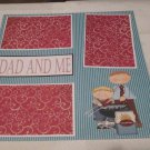 """Dad and Me Boy""-Premade Scrapbook Page 12x12"