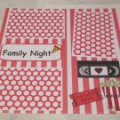 """Family Night""-Premade Scrapbook Page 12x12"