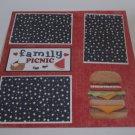 """Family Picnic a""-Premade Scrapbook Page 12x12"