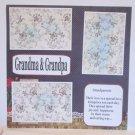 """Grandma and Grandpa b""-Premade Scrapbook Page 12x12"