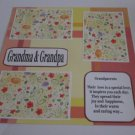 """Grandma and Grandpa c""-Premade Scrapbook Page 12x12"